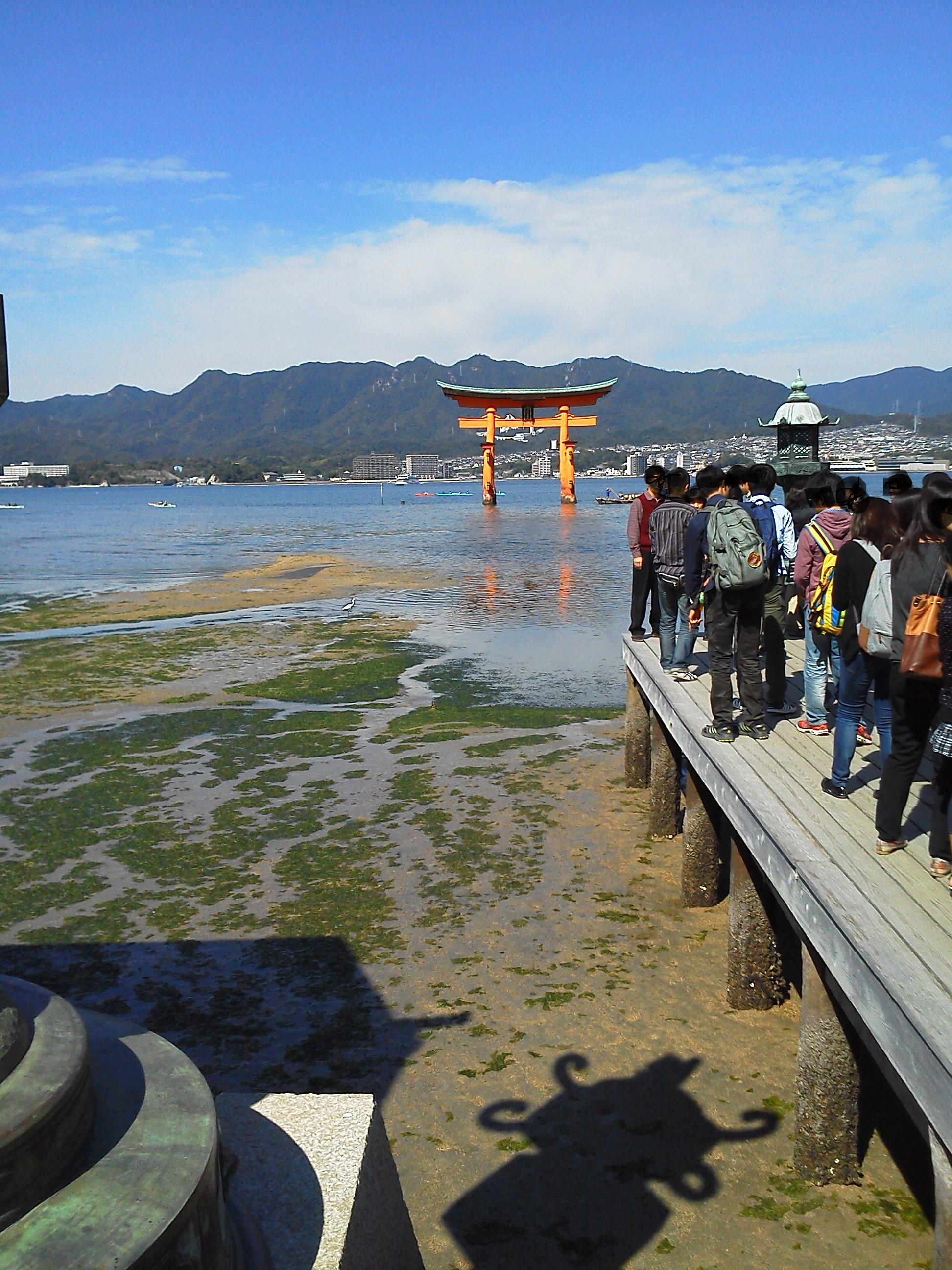 厳島神社 の干潮