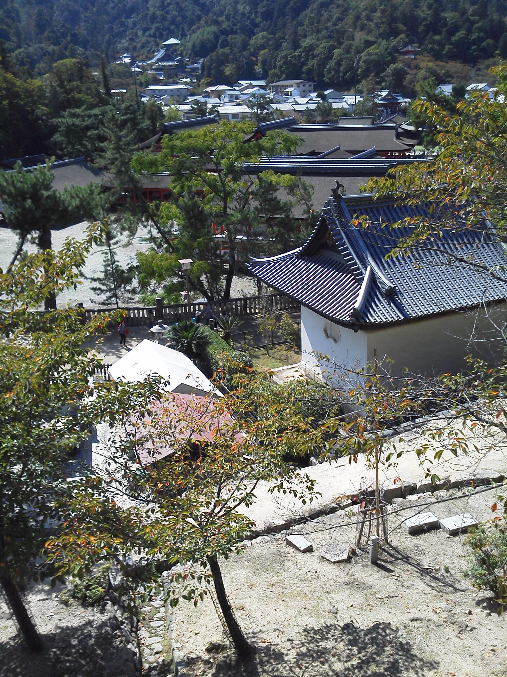 宮島の五重塔 千畳敷からの眺望