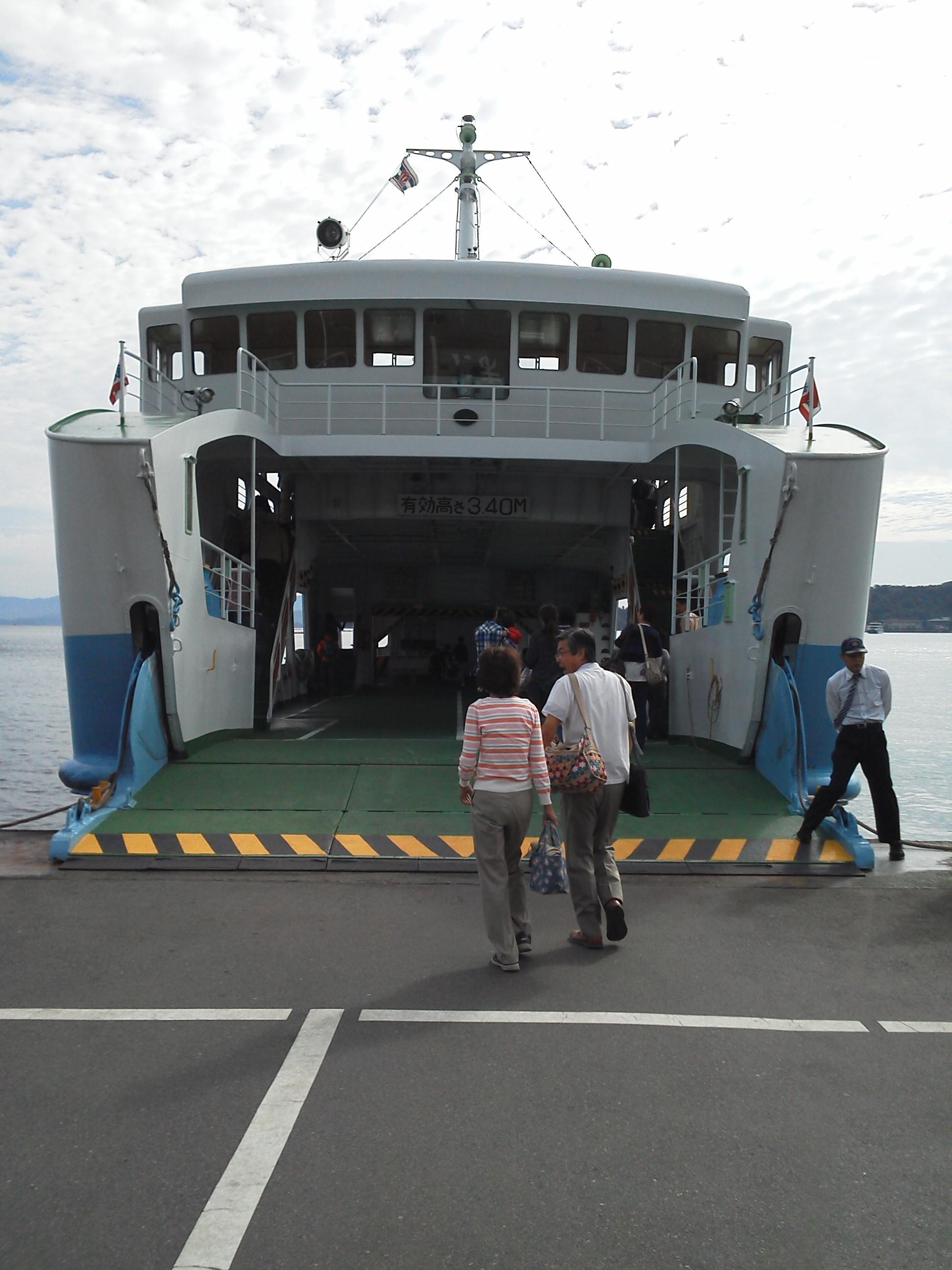 宮島への松大汽船のフェリー