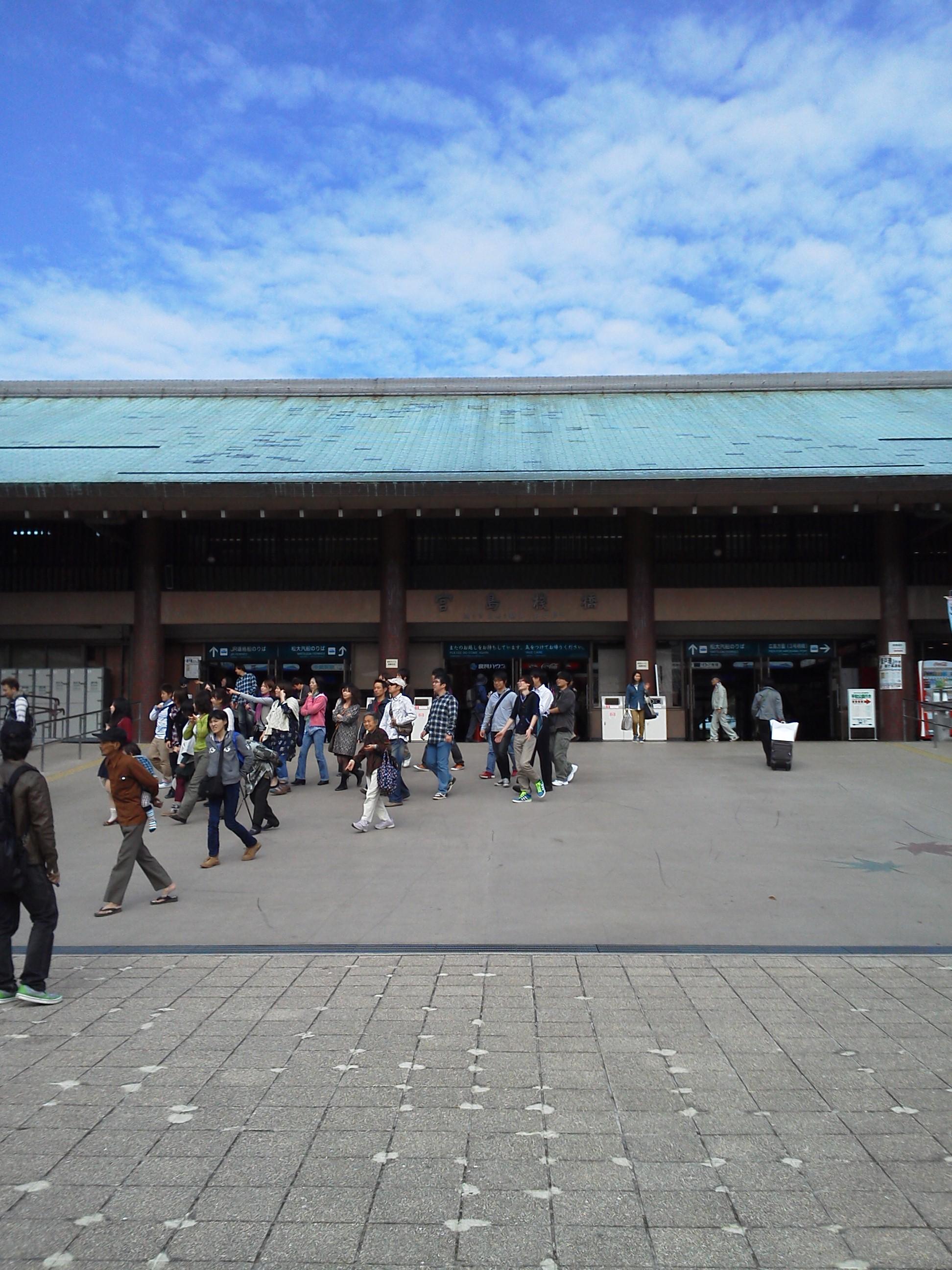 宮島桟橋の建物