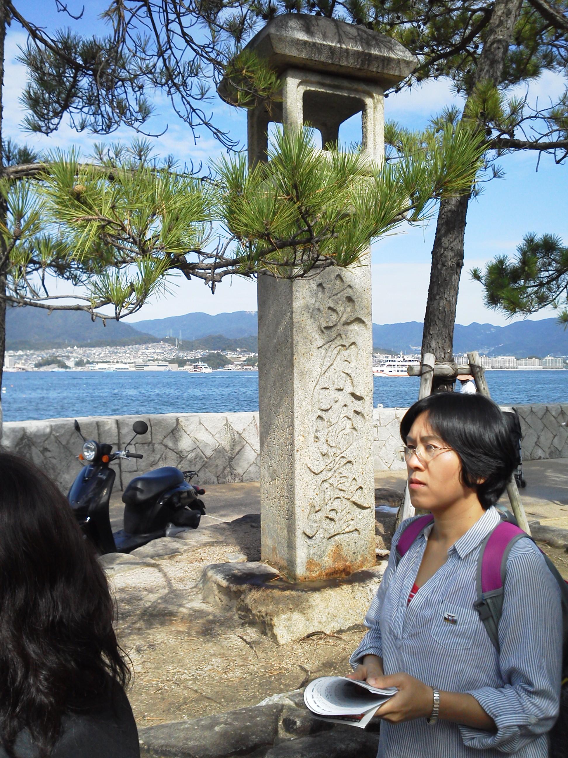 宮島の灯篭