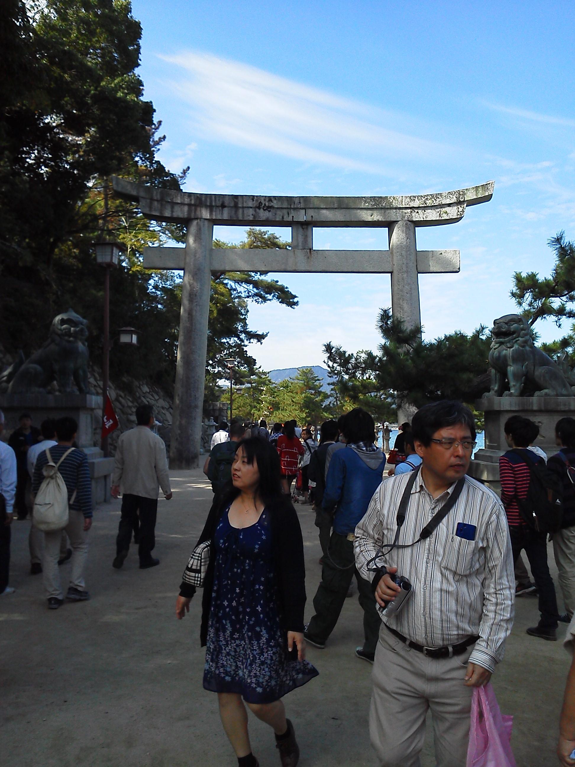 宮島の厳島神社の鳥居