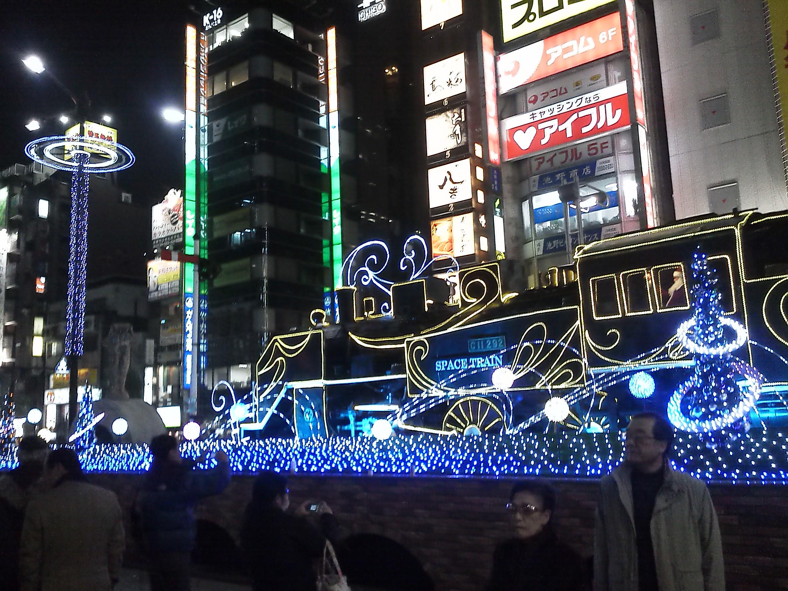 新橋駅 SL広場 ライトアップ