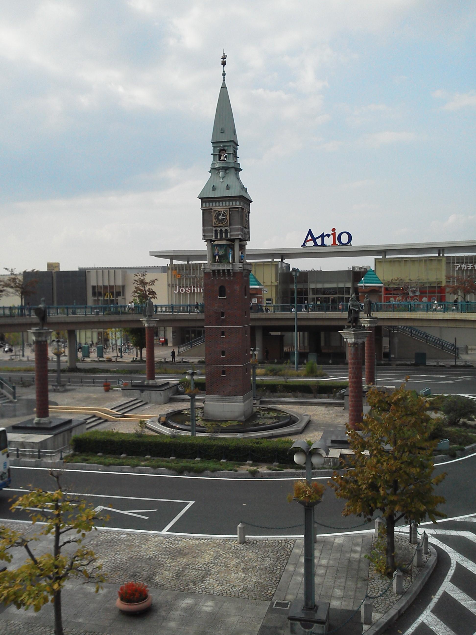 JR倉敷駅 三井アウトレットパーク倉敷側 時計塔