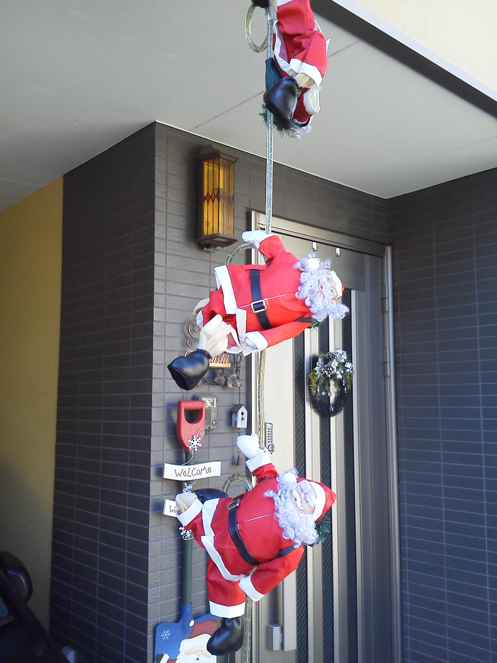 クリスマスのデコレーション サンタクロースのチューブライト